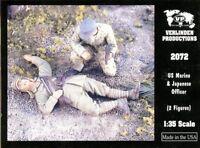 Verlinden 1:35 US Marine & Japanese Officer - 2 Resin Figures Kit #2072