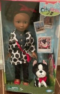 """City Pals Baby Doll Chicago Charlotte 14"""" Doll & Her Dog Calypso"""