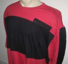 NEW 3XB ECKO UNLTD MENS T SHIRT Tee Red Black Zipper Pocket Short Sleeve 3XL 3X