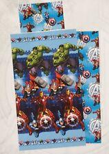 Completo lenzuola Avengers Marvel per letto singolo una piazza in cotone. A899