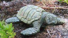 Sea Turtle, Painted Green Concrete Statue, Turtle Garden Decor, Cement Statue