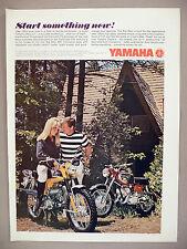 Yamaha Motorcycle PRINT AD - 1967 ~ cycle