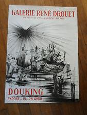 Affiche d'art - DOUKING - 1958 - litho - Galerie René Drouet -