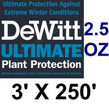 DeWitt Ultimate 3'x250' 2.5oz Frost Freeze Cloth Thermal Blanket Ultimate3 DTB3