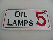 OIL LAMPS Sign for Game Room Farm Texas Country House Store Man Cave