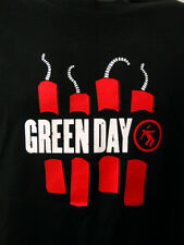 Green Day Black Tee Shirt Lg Rock Music Band American Idiot Red Dynamite 2006