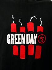 Green Day Black Tee Shirt Lg Rock Band 2006 American Idiot Album Red Dynamite
