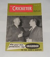 THE CRICKETER MAGAZINE  AUGUST 19TH 1961 - STUART SURRIDGE'S SIDE IN BERMUDA