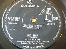 """CLIFF RICHARD - BIG SHIP   7"""" VINYL"""