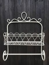 Shabby Chic Metal Wall Shelf Unit Rack Storage Towel Rail Bathroom Kitchen