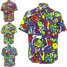 Mens Shirt Loud Originals Rayon TAILORED FIT Short Sleeve TIFFY PRINT Retro