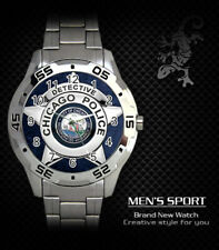 CHICAGO POLICE DETECTIVE STEEL WATCH NEW 2020 (RARE)