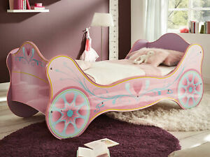 Kinderbett SISSY Lila pink rosa Kinderzimmer Kutsche Mädchenbett Prinzessin Bett