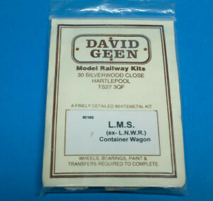 LMS ex LNWR Container Wagon White metal etched brass David Geen kit un built