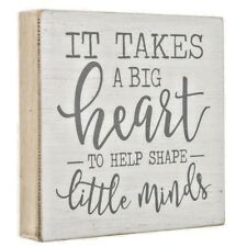 It Takes A Big Heart Wood Wall Decor Gift Home Chic Inspirational  Decor