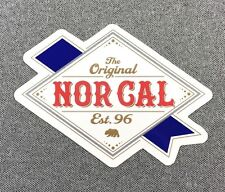 NOR CAL Ribbon Label Sticker NORCAL 4.5in si