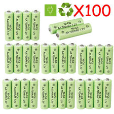 AA Rechargeable Batteries NiCd 700mAh 1.2v Ni-Cd AA Battery Garden Camera Lot