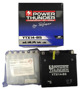 Batería YTX14-BS 12V 12Ah   Power Thunder   BTX14-BS   FTX14-BS   Moto   ¡24h!