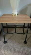 Metal Pipe Legs Industrial Style Coffee Table and 2 End Table Set
