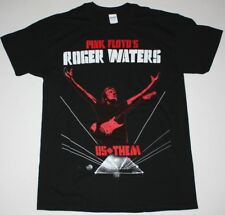 ROGER WATERS US+THEM TOUR 2018 RED/BLACK T SHIRT PINK FLOYD PROGRESSIVE ROCK
