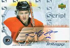 JUSTIN WILLIAMS 03-04 UD Trilogy Script 2 AUTO