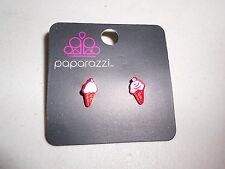 Paparazzi Kids Earrings (new) ICE CREAM CONES - RED