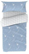 Juego cama 90 infantil funda nordica almohada bajera azul reversible 90x190