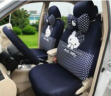 ** 18 Piece Navy Polka Dot Hello Kitty Car Seat Covers **
