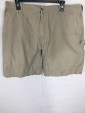 Woolrich Men's Carpenter Shorts Tan Beige Size 36 Muti Pocket Work Shorts