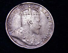Canada 1903 5 Cents NO H 22 Leaves Nice Silver Coin Edward VII FYOI