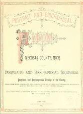 1883 MECOSTA County Michigan MI, History & Genealogy Ancestry Family DVD CD B07