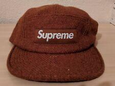 Supreme Harris Tweed Brown Box Logo Camp Dad Hat Cap USA DS OSFA
