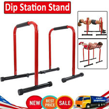 Parallel Dip Station Bars Home Gym Parallettes Workout Fitness Calisthenics Set