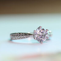 2ct AAA Anniversary Cz Band 925 Silver Women's Engagement Wedding Ring Size 4-10