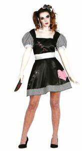 Womens Killer Doll Damaged Broken Ragdoll Halloween Ladies Fancy Dress Outfit