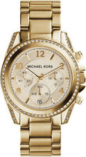 Michael Kors Ladies Blair Gold Chronograph Watch - MK5166
