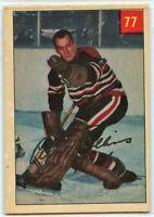 1954-55 Parkhurst Hockey #77 Al Rollins VG-EX Condition (2020-13)
