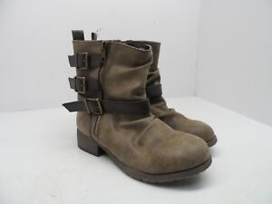 """Jellypop Women's Marian 6"""" Boot Distressed Brown Size 6M"""