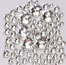 Neu money_devil Klare Kristalle Klar Silber Glas SS 8 Nageldesign 250 St Zippbag