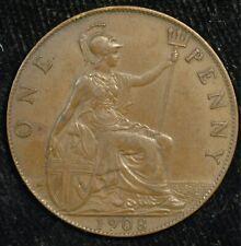 More details for penny 1908 edward vii aef good strike (t100)