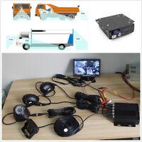 "Car Vehicle 4CH DVR Box+7"" LCD HD Monitor+4 Pcs Front Rear Left Right CCD Camera"