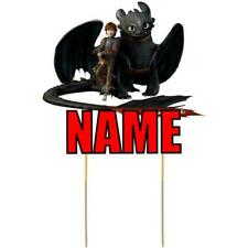 How to Train Your Dragon Cake Topper Personalised Kids Party Decoration Cut Card