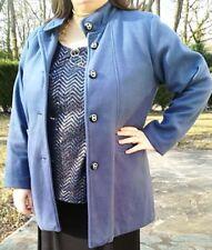 Femme Manteau Polaire bleu Grande taille 50 / 52 avec 2 poches fantaisies Neuf