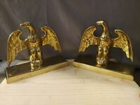 Vintage VIRGINIA METALCRAFTERS Brass Federal Eagle Bookends
