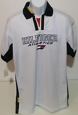 Tommy Hilfiger Athletics VTG Mesh Block Flag Logo Polo Shirt Mens L NWT NEW NOS