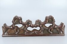 Chinese Exquisite Hand-carved wood penholder