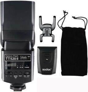 GODOX TT520 II Blitzgeräte Speedlite mit Sender für Canon Nikon Olympus Pentax