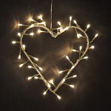A Batteria LED Bianco Caldo in Metallo Cuore Corona FAIRY stringa luci lampada Nuova