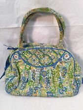 Vera Bradley Green & Blue Floral Quilted Handbag