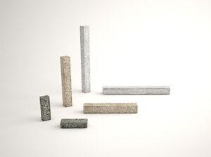 Stelen Palisaden Granit 120x12x12 cm in Grau und Anthra Grau